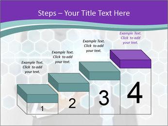 Businessman touching PowerPoint Template - Slide 64