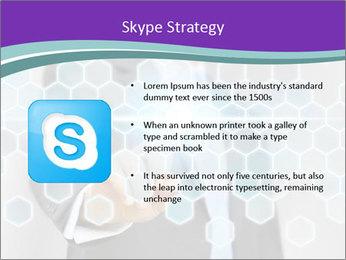 Businessman touching PowerPoint Template - Slide 8