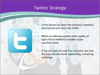 Businessman touching PowerPoint Template - Slide 9