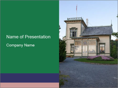 Home of the famous composer Edvard Grieg PowerPoint Template