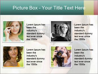 Beautiful smiling woman PowerPoint Template - Slide 14