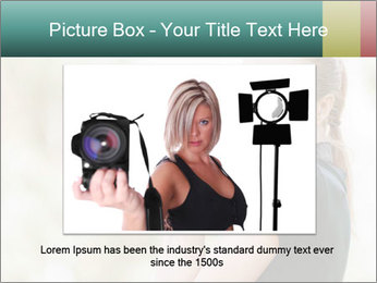 Beautiful smiling woman PowerPoint Template - Slide 16