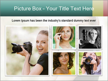 Beautiful smiling woman PowerPoint Template - Slide 19