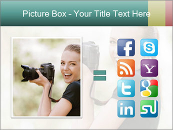 Beautiful smiling woman PowerPoint Template - Slide 21