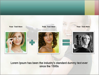 Beautiful smiling woman PowerPoint Template - Slide 22
