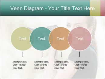 Beautiful smiling woman PowerPoint Template - Slide 32