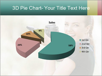 Beautiful smiling woman PowerPoint Template - Slide 35