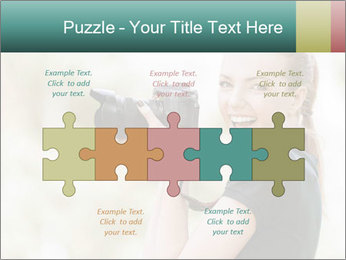 Beautiful smiling woman PowerPoint Template - Slide 41
