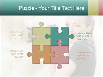 Beautiful smiling woman PowerPoint Template - Slide 43
