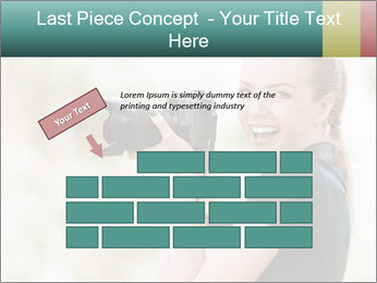 Beautiful smiling woman PowerPoint Template - Slide 46