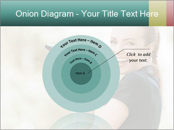 Beautiful smiling woman PowerPoint Template - Slide 61