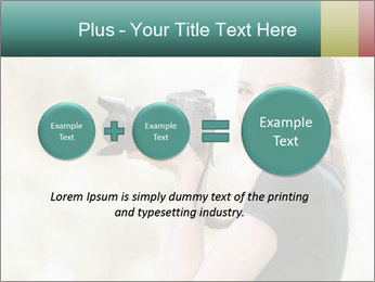 Beautiful smiling woman PowerPoint Template - Slide 75