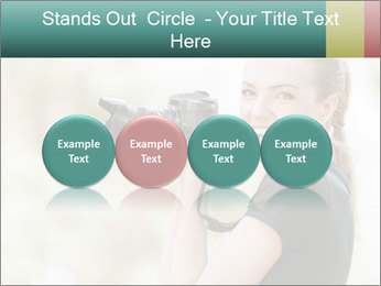 Beautiful smiling woman PowerPoint Template - Slide 76