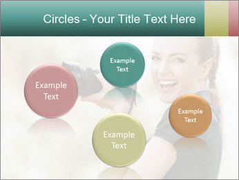 Beautiful smiling woman PowerPoint Template - Slide 77