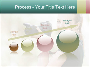 Beautiful smiling woman PowerPoint Template - Slide 87