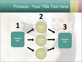 Beautiful smiling woman PowerPoint Template - Slide 92