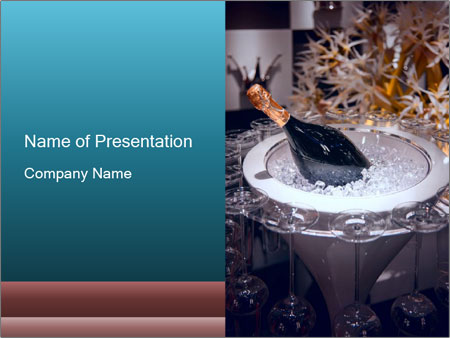 Champagne in bowl PowerPoint Templates