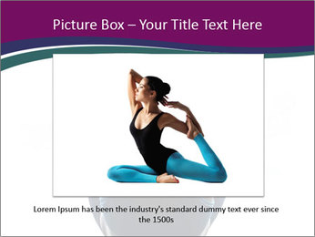 Woman exercising yoga PowerPoint Template - Slide 15