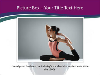Woman exercising yoga PowerPoint Template - Slide 16