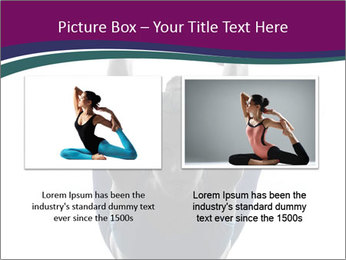 Woman exercising yoga PowerPoint Template - Slide 18
