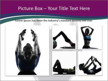 Woman exercising yoga PowerPoint Template - Slide 19