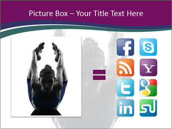 Woman exercising yoga PowerPoint Template - Slide 21