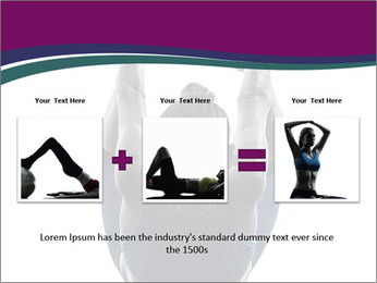 Woman exercising yoga PowerPoint Template - Slide 22