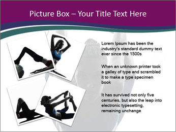 Woman exercising yoga PowerPoint Template - Slide 23