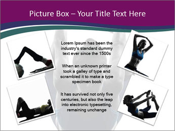 Woman exercising yoga PowerPoint Template - Slide 24