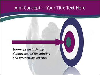 Woman exercising yoga PowerPoint Template - Slide 83