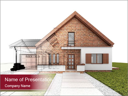 Classic house design PowerPoint Template