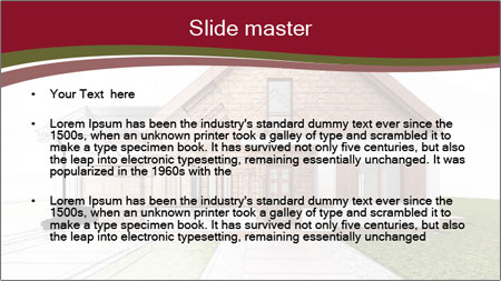 Classic house design PowerPoint Template - Slide 2
