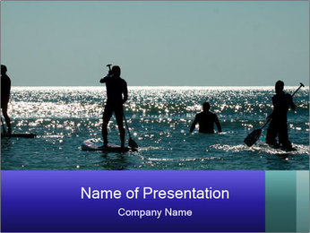 Group on the water PowerPoint Template - Slide 1