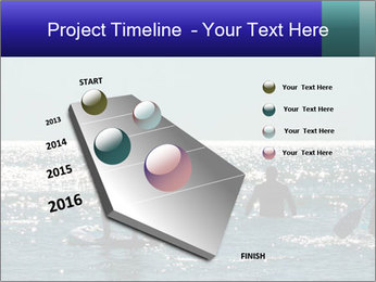 Group on the water PowerPoint Template - Slide 26