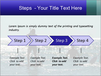 Group on the water PowerPoint Template - Slide 4