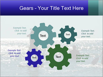 Group on the water PowerPoint Template - Slide 47