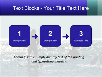 Group on the water PowerPoint Template - Slide 71