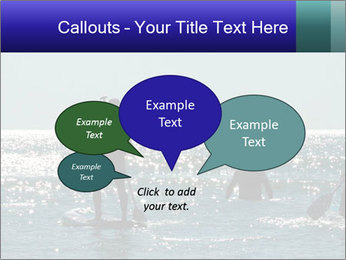 Group on the water PowerPoint Template - Slide 73