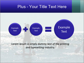 Group on the water PowerPoint Template - Slide 75