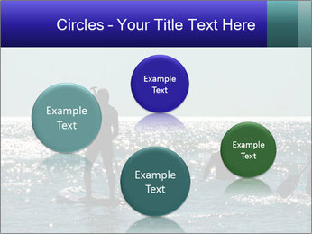 Group on the water PowerPoint Template - Slide 77