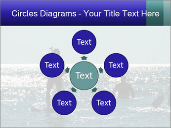 Group on the water PowerPoint Template - Slide 78