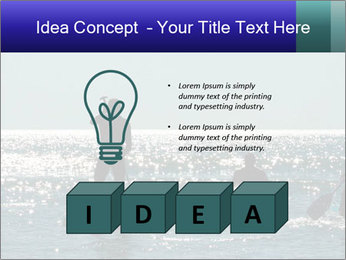 Group on the water PowerPoint Template - Slide 80
