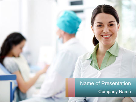 Dentist and patient PowerPoint Template