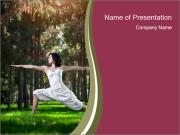 Yoga virabhadrasana PowerPoint Templates