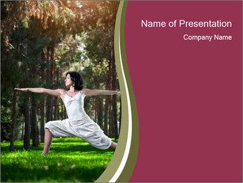 Yoga virabhadrasana PowerPoint Template - Slide 1