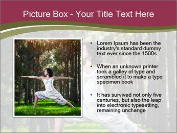 Yoga virabhadrasana PowerPoint Template - Slide 13