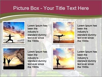 Yoga virabhadrasana PowerPoint Template - Slide 14
