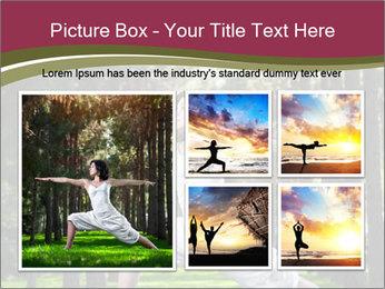 Yoga virabhadrasana PowerPoint Template - Slide 19