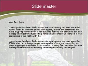 Yoga virabhadrasana PowerPoint Template - Slide 2
