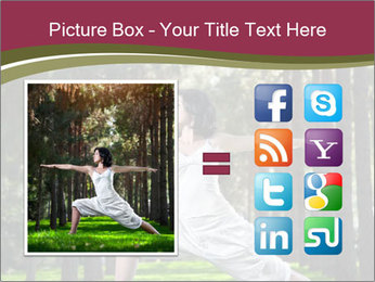 Yoga virabhadrasana PowerPoint Template - Slide 21